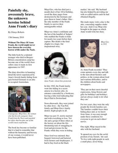 Tes Biography Anne Frank | year 6 non fiction 1 biography and autobiography by