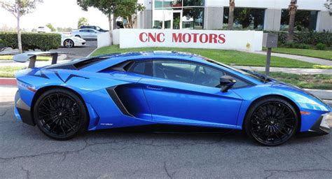 Blue Lamborghini Price Bright Blue Lamborghini Aventador Sv Hits The Market In