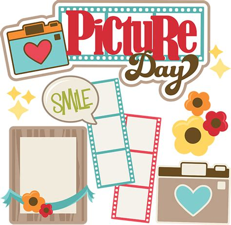 picture of day picture day svg cut files for scrapbooking svg cut
