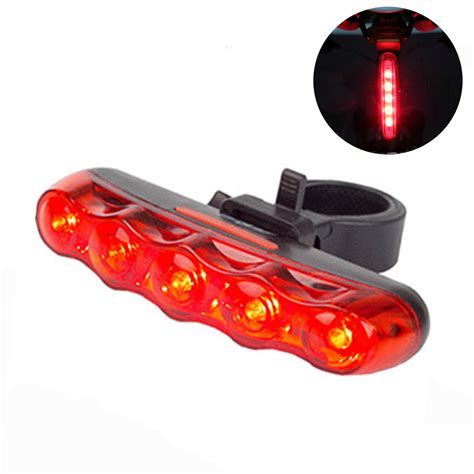 brightest bicycle tail light 5 leds bright cycling bike bicycle bright rear tail back