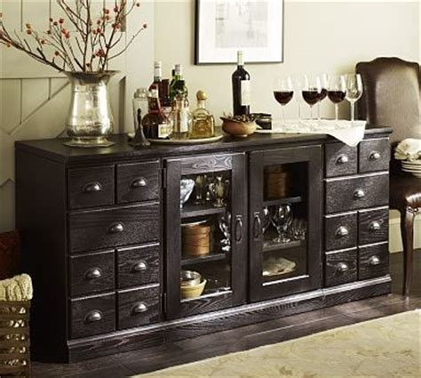 printers large buffet artisanal black stain traditional