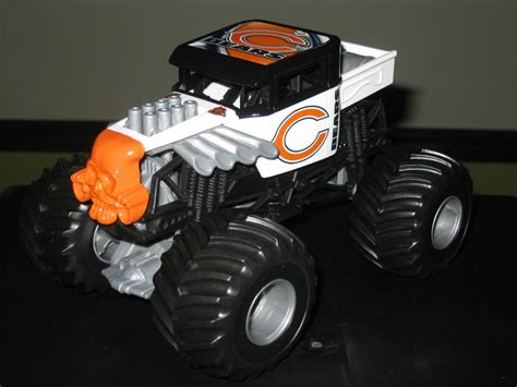 monster truck jam chicago wheels monster jam custom chicago bears bone shaker1