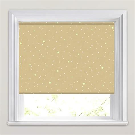 patterned blackout roller blinds yellow white biscuit stars patterned kids blackout