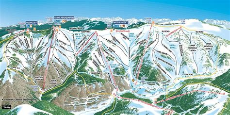 vail map vail colorado ski america s top 100 resorts project