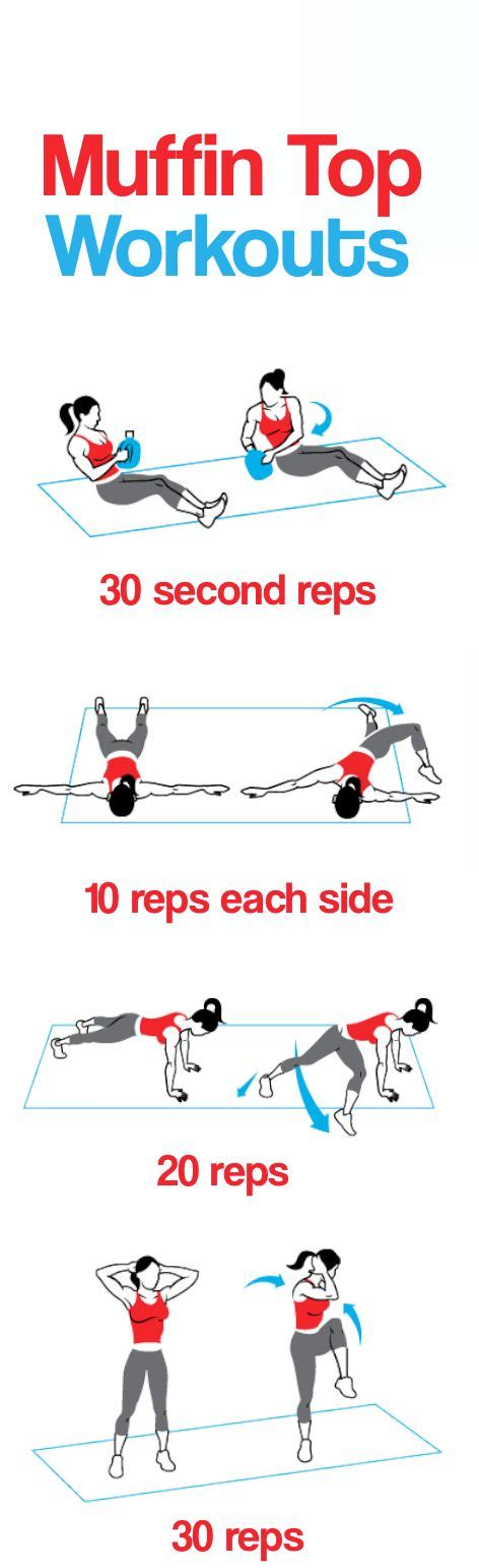 get rid of muffin top exercises healthy beautiful ab routine handles