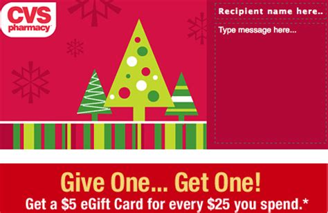 Gift Cards Available At Cvs - free 5 cvs egiftcard wyb 25 cvs gift card the shopper s apprentice