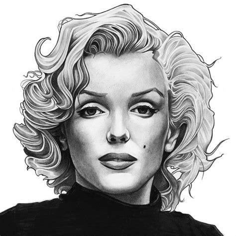 marilyn monroe zeichnung altin halil marilynmonroe drawing sketch illustration