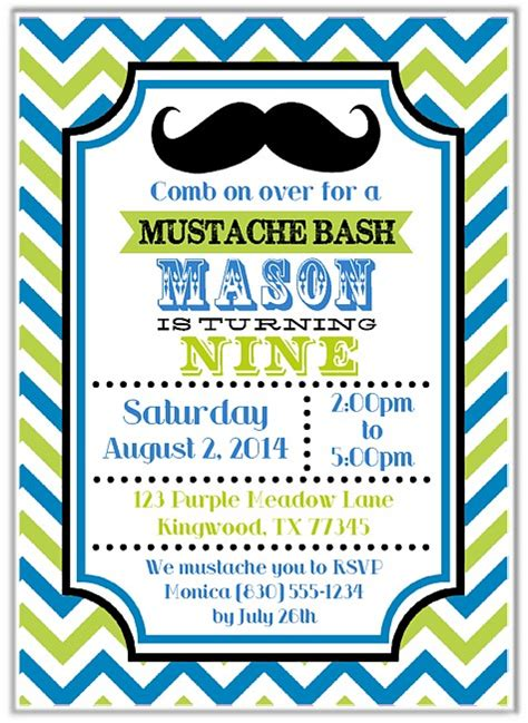 mustache birthday card template mustache birthday invitations mustache birthday