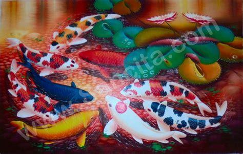 Termometer Ruangan Berbentuk Ikan Promo k 24 lukisan ikan koi 9 ekor sancita
