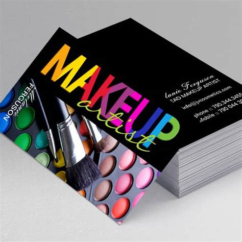Makeup Business Cards Templates freelance makeup artist business card sles makeup vidalondon