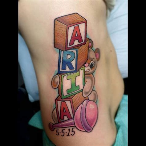 block tattoos 45 sweet teddy tattoos for your 2018
