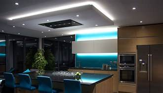 lovely Led Lighting Under Kitchen Cabinets #4: led-strip-lights-dropped-ceiling-kitchen-installation.jpg
