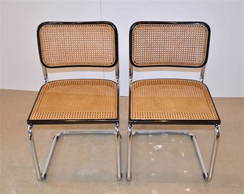 iconic marcel breuer cesca chairs in black at 1stdibs
