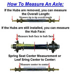 how to measure at home trailer axle painted steel 3 500lb 87 in hub 70 in