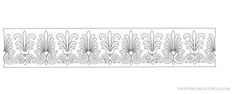 printable stencils border printable floral border stencils free printable stencils