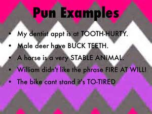 exle of a pun literary terms by lovitt