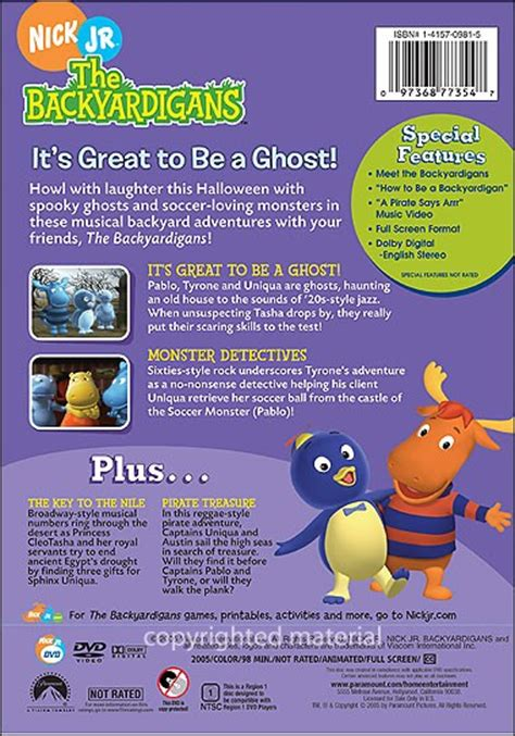 the backyardigans its great to be a ghost dvd www