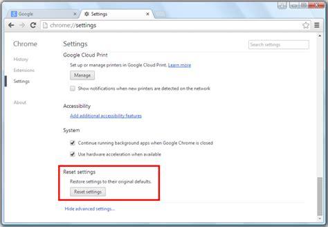 reset chrome online como redefinir as configura 231 245 es do google chrome bugsfighter