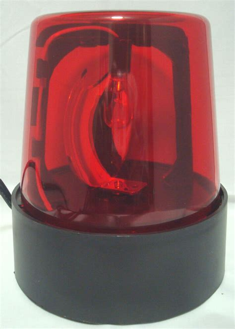 red  lighted fire police light beacon rotating spinning