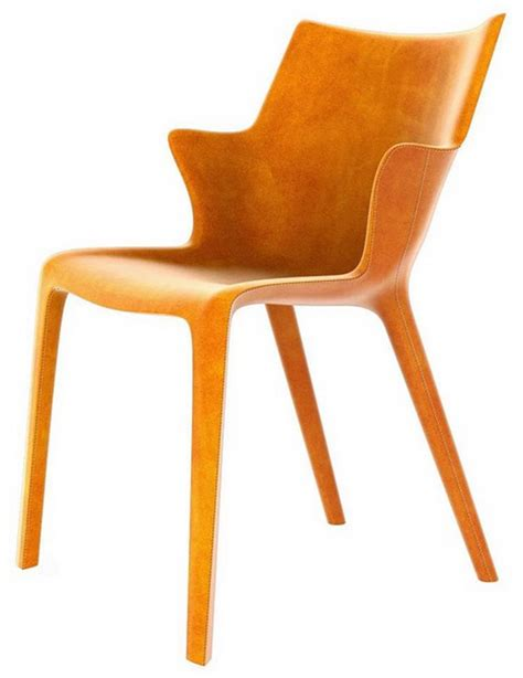 Philippe Starck Dining Chairs Quot Lou Eat Quot Leather Dining Chair Designed By Philippe Starck For Driade For Sale At 1stdibs