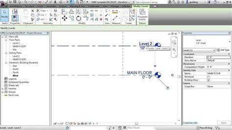 tutorial revit architecture 2013 revit architecture 2013 tutorial levels youtube