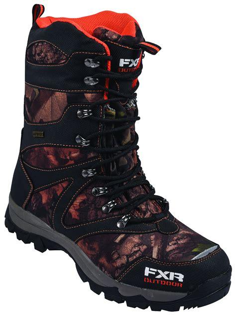 snow camo boots fxr mens camo orange renegade snowmobile boots snow