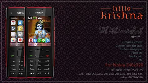 nokia x2 watch themes little krishna theme nokia x2 00 asha 515 240 215 320 s406th