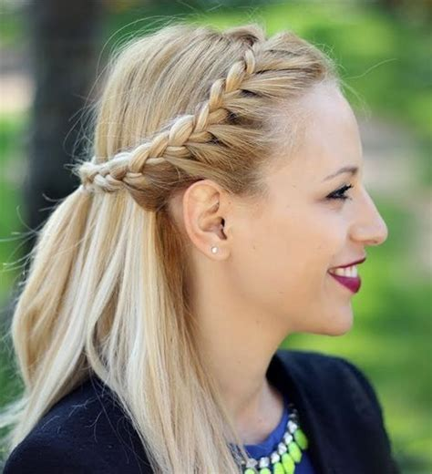 braided updo hairstyle party half up half down for 20 trendy half braided hairstyles