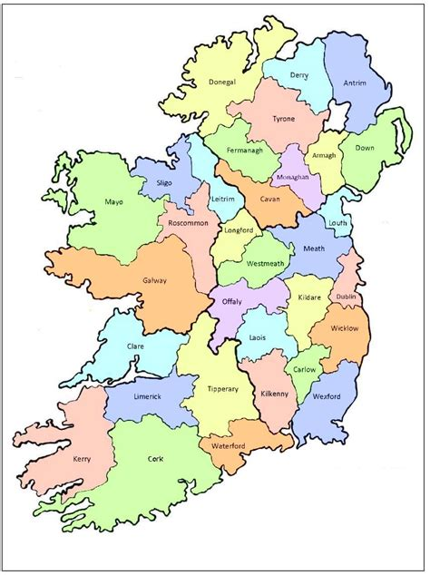 printable map ireland counties towns error 404