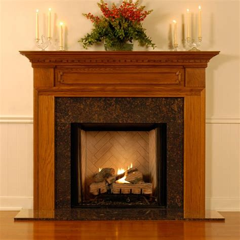Wood Mantel On Fireplace by Fireplace Mantel