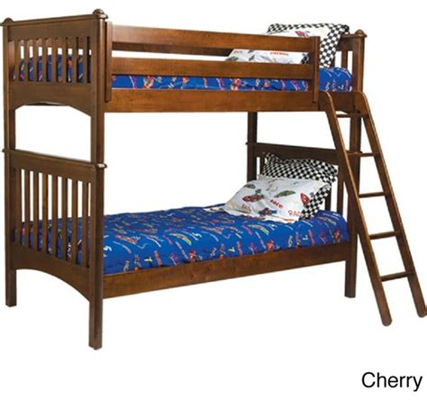 Bunk Bed Ladder Safety Mission Bunk Bed With Ladder And Safety Rails Contemporary Beds By Overstock