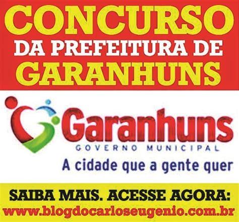 dirio oficial concurso pblico 2016 listas de nomes blog do carlos eug 202 nio prefeitura de garanhuns confira a