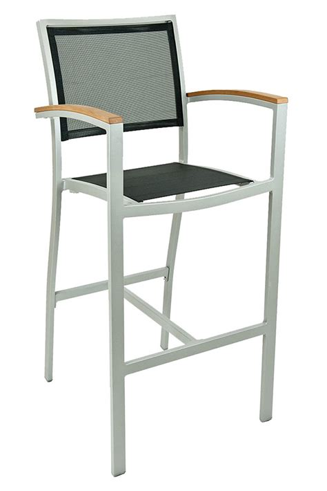 Outdoor Restaurant Bar Stools by Commercial Silver Aluminum White Pe Weave Outdoor