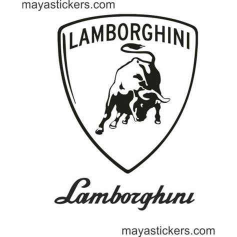 lamborghini logo sticker lamborghini shield logo decal for cars bikes and laptop