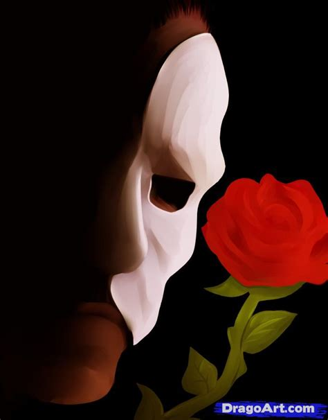 how to draw the phantom phantom of the opera step by