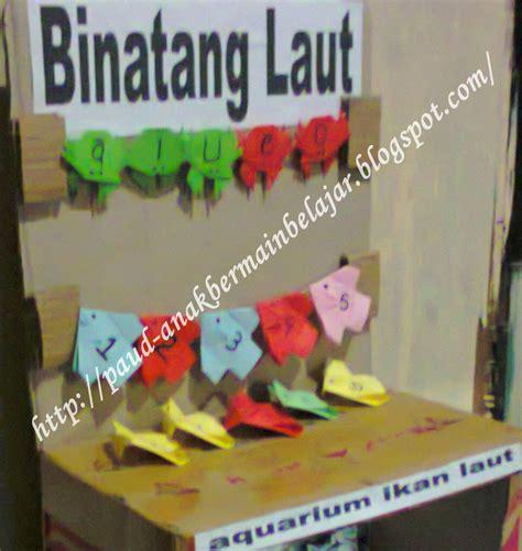Poster Anak Pengenalan Karakter Binatang ape aquarium binatang laut anak paud bermain belajar