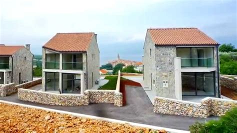 image of house new stone house close to sea for sale croatia island of