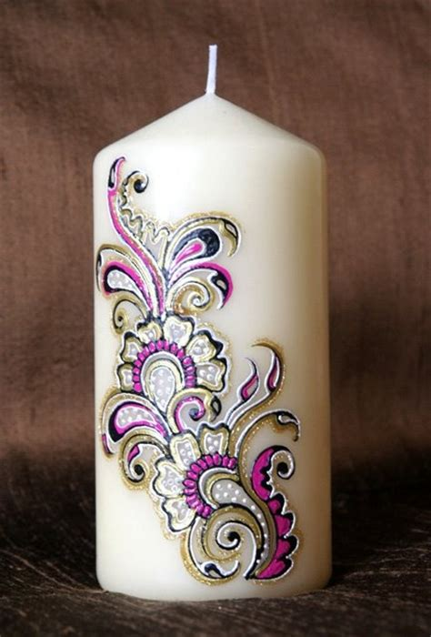 henna design on candle 12 best decorated candles images on pinterest decorated