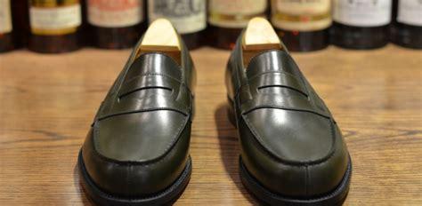 jm weston loafers jm weston 180 loafer in green lsw leather