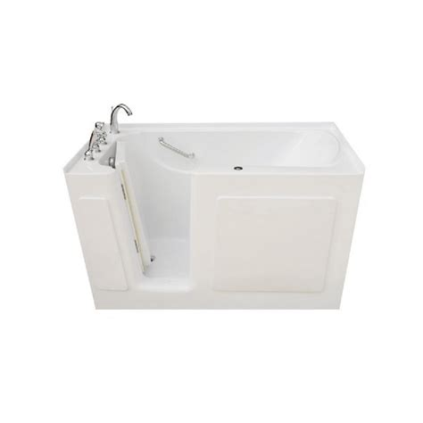 4 5 ft bathtub 4 5 ft left drain walk in whirlpool bathtub in white