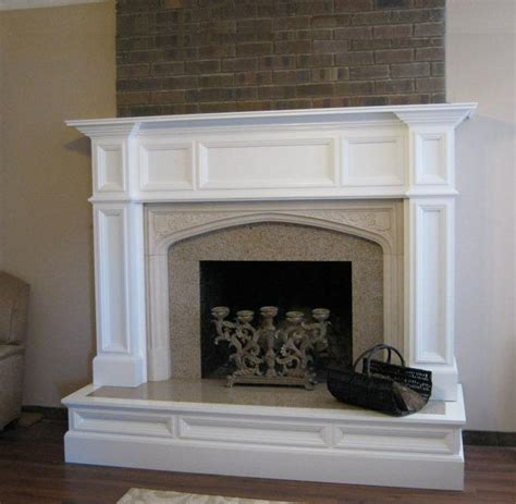 oxford wood fireplace mantel after makeover image