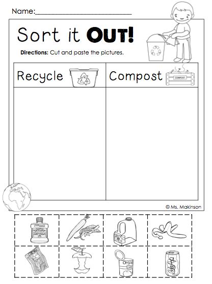 printable preschool sorting activities freebie earth day printables sort it out cut and