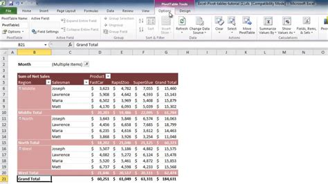 excel 2010 pivot table tutorial ppt how to update excel 2010 pivot table youtube