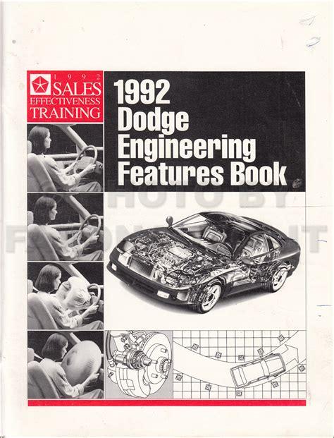 motor repair manual 1992 dodge d350 free book repair manuals 1992 dodge pickup truck ramcharger repair shop manual original