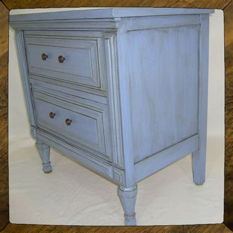 Bed Made From End Table by Custom Made Periwinkle Bed Side Table End Table With 2