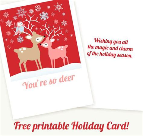 printable christmas cards from us my owl barn printable christmas cards