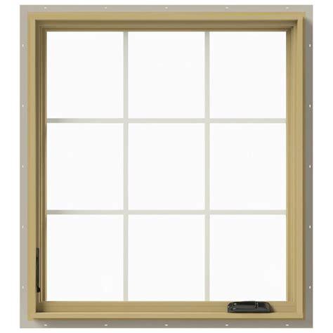 jeld wen awning windows jeld wen 36 in x 40 in w 2500 left hand casement