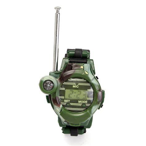 Mainan Anak Children Walkie Talkie 1 Pair 2pcs 2pcs 7 in 1 children two way radio walkie talkie camouflage wrist alex nld