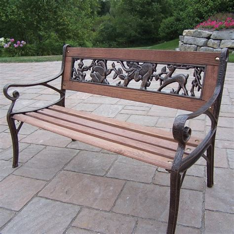 cheap park bench excellent buy innova hearth and home mission cast iron