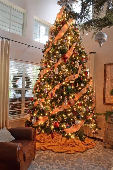 orange theme christmas tree decorations ideas